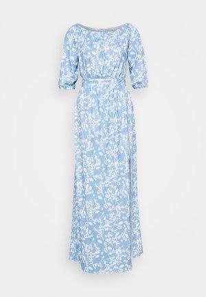 SUMMER OFF SHOULDER SET - Maxi skirt - blue