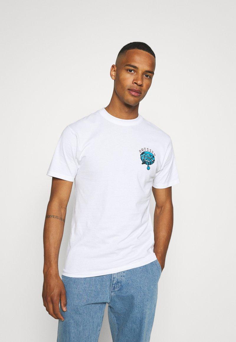 Santa Cruz - UNISEX DRESSEN PUP DOT - Print T-shirt - white