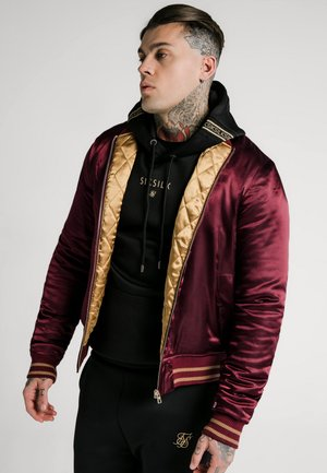 JACKET - Bomber Jacket - burgundy/gold-coloured