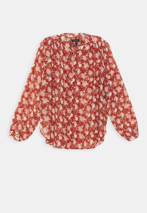CARLY FLORAL TIE - Blouse - pecan