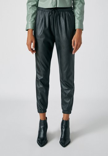 Kalhoty - mottled black