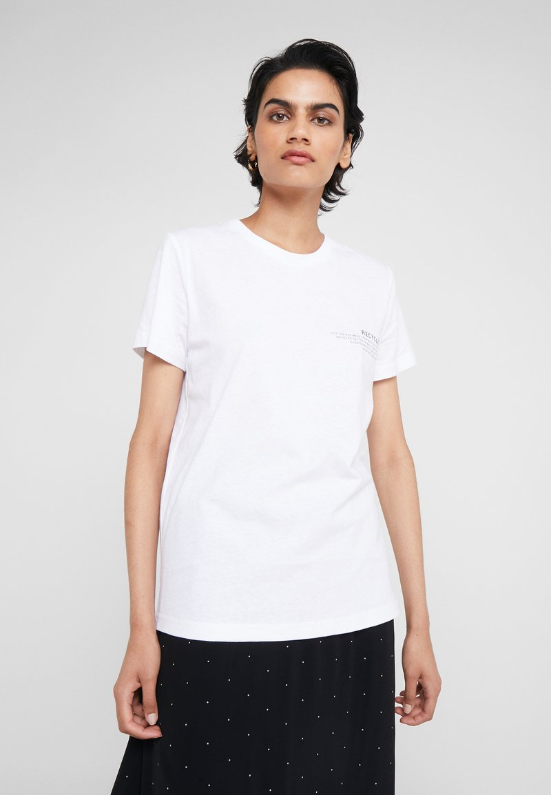 DESIGNERS REMIX - STANLEY TEXT TEE - T-shirt print - white