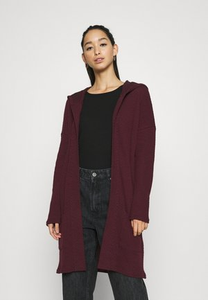 ONLDIAMOND LONG CARDIGAN  - Strickjacke - bordeaux