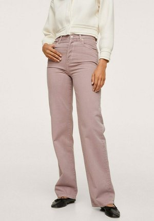 DROIT TAILLE HAUTE - Flared Jeans - lilas