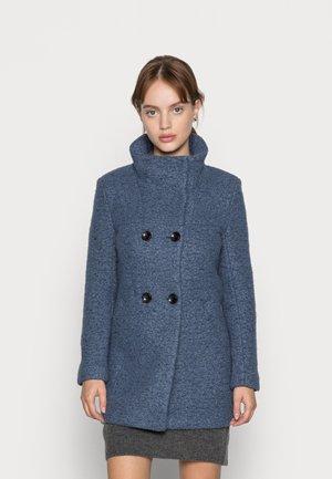ONLNEWSOPHIA COAT - Short coat - china blue melange india ink