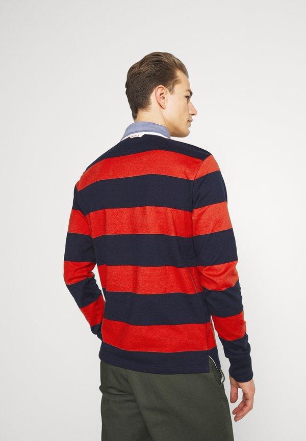 GANT ORIGINAL HEAVY RUGGER - Koszulka polo - lava red/czerwony Odzież Męska PHIM