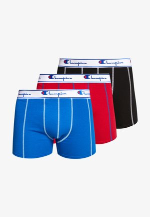 BOXER 3 PACK - Pants - black/red/cobalt