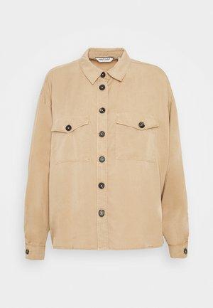 Button-down blouse - beige safari