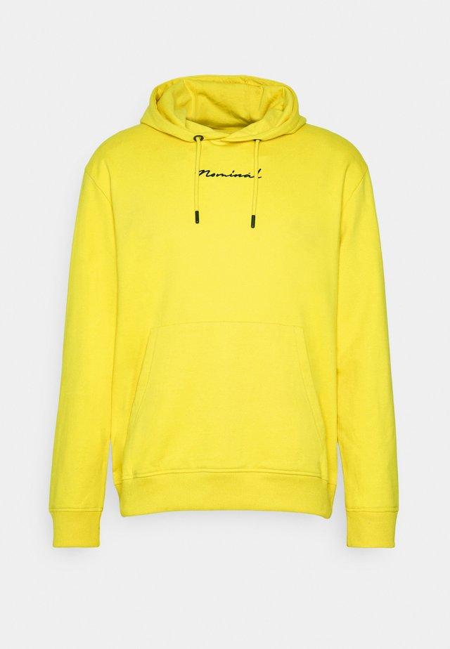 BARCODE HOOD - Hoodie - yellow