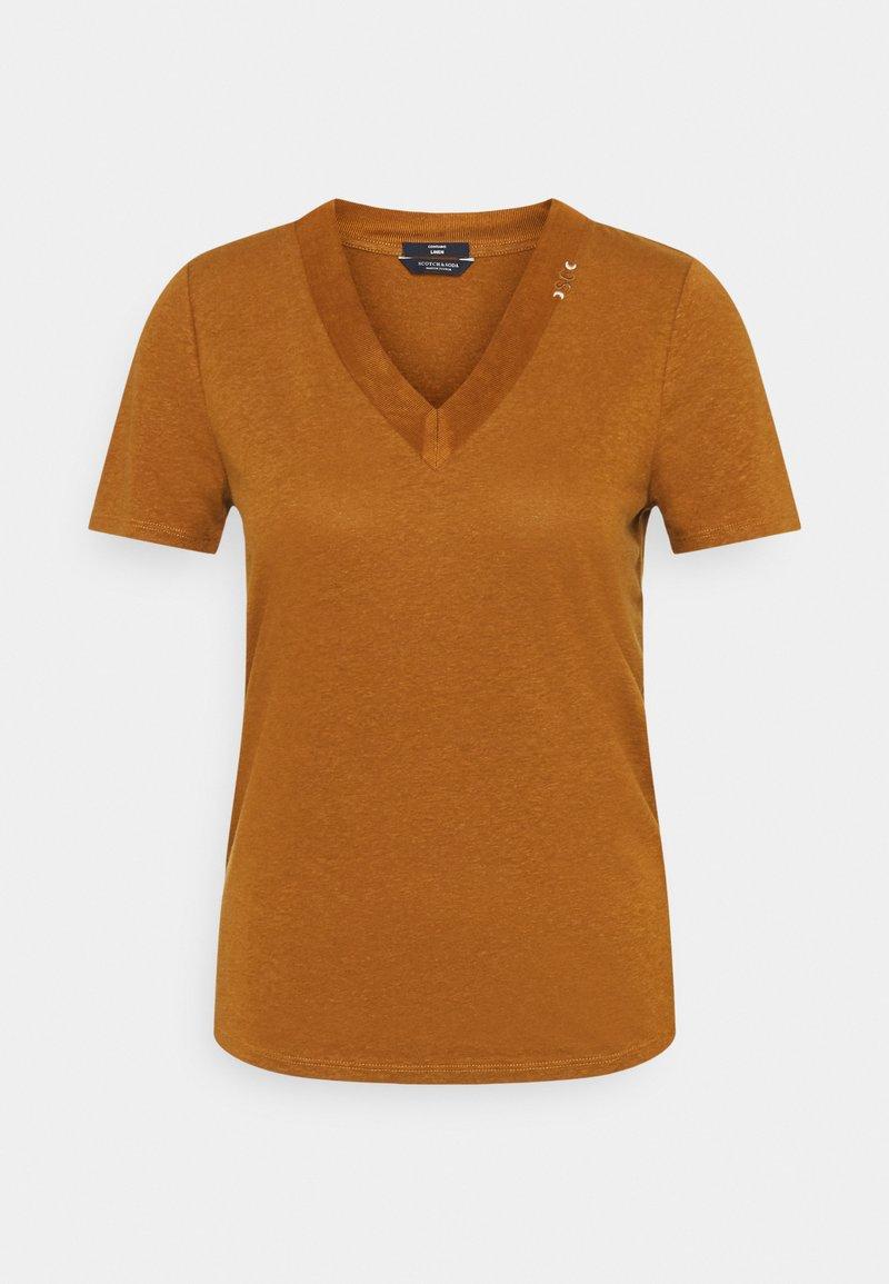 Scotch & Soda - T-shirt basic - tabacco