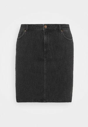 PCLILI SKIRT  - Mini skirts  - black denim