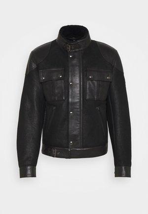 GANGSTER - Leren jas - black