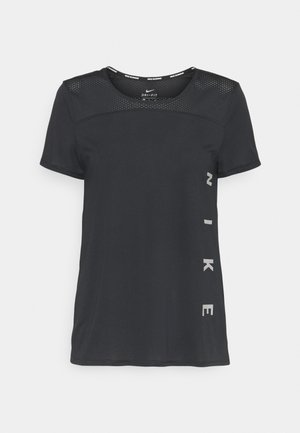 RUN MILER  - T-shirt imprimé - black/particle grey/silver