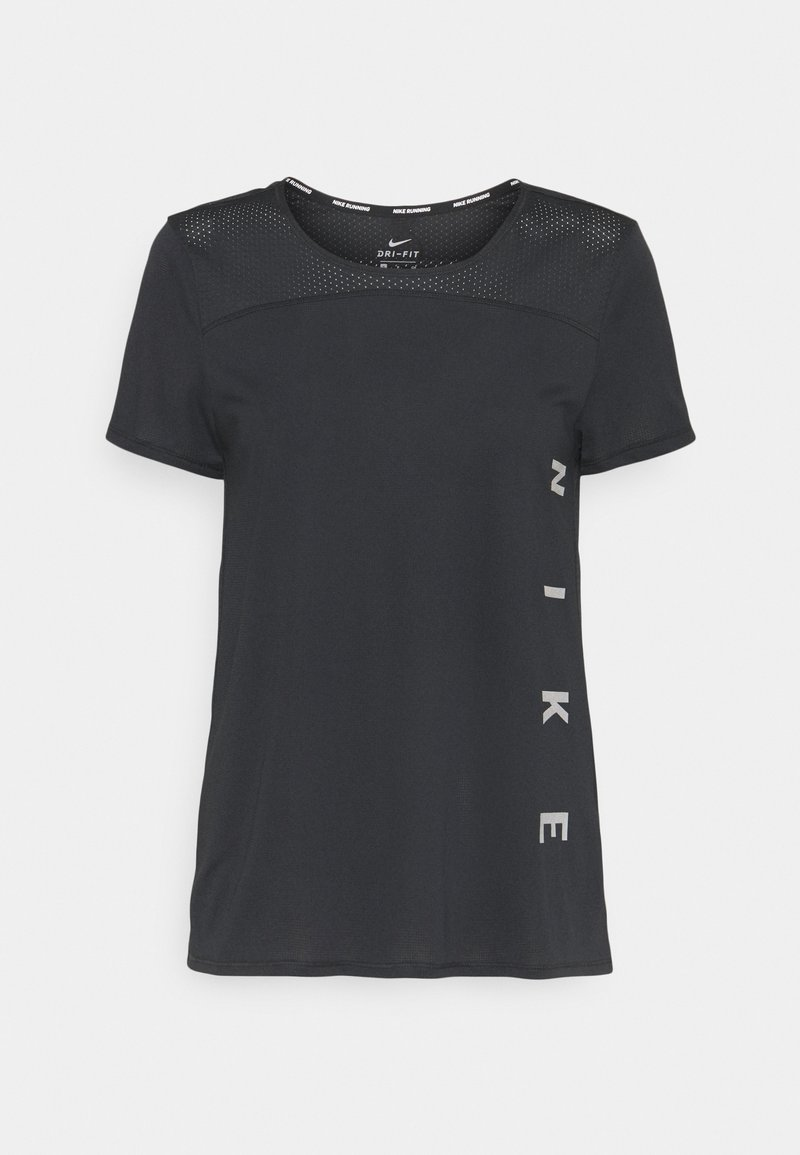 Nike Performance - RUN MILER  - T-shirt med print - black/particle grey/silver