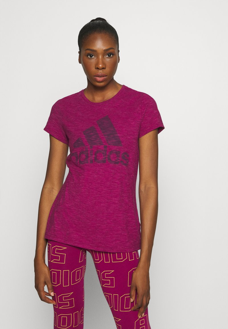 adidas Performance - WINNERS TEE - Print T-shirt - berry