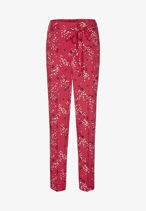 Trousers - tomato red