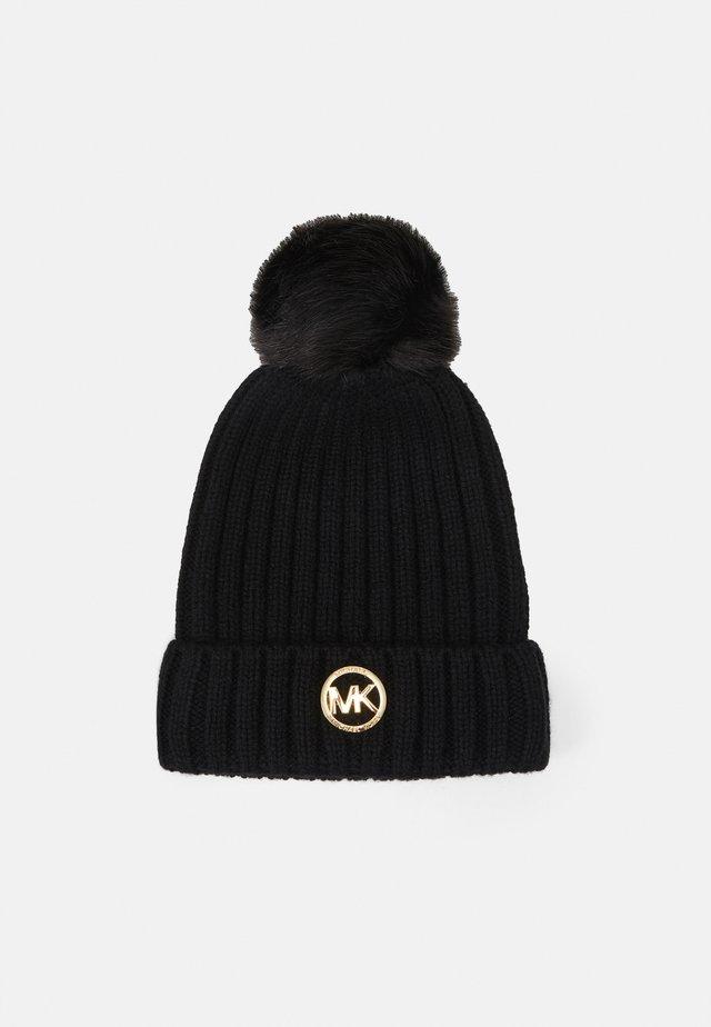 PATCH BEANIE - Mütze - black/gold-coloured