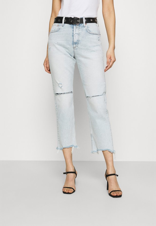 ROSE COLLECTION MAIJKE PANTS - Jeans straight leg - light blue