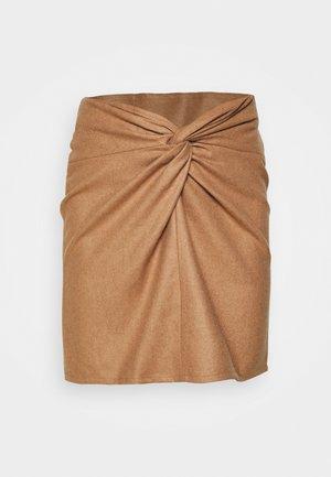 KNOT SKIRT - Mini skirt - beige