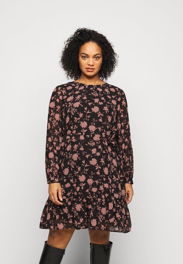 VMICY SHORT DRESS - Day dress - black/icy