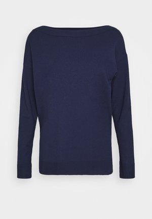 Strikkegenser - dark blue