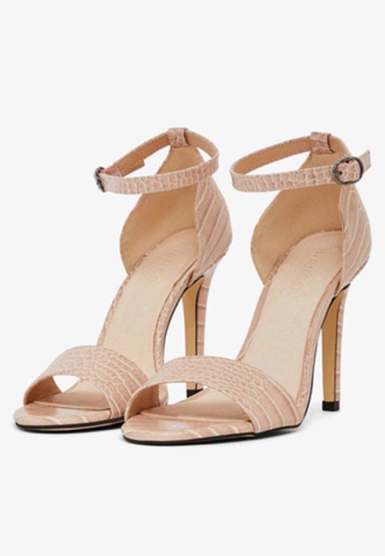 Bianco Sandalen met hoge hak - nougat - Damesschoenen Heet
