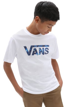 BY VANS CLASSIC LOGO FILL BOYS - T-shirt med print - white/galactic glow