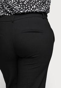 Selected Femme Curve - SLFRIGA WIDE PANT - Kangashousut - black - 3