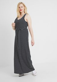 Urban Classics Curvy - LADIES LONG RACER BACK DRESS - Maxi šaty - black/charcoal - 0