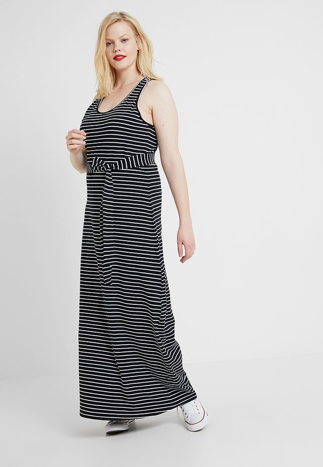 LADIES LONG RACER BACK DRESS - Długa sukienka - black/charcoal