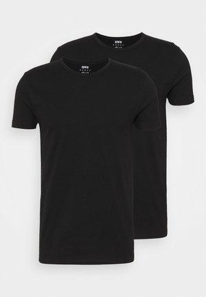 DOUBLE TEE UNISEX 2 PACK - Print T-shirt - black