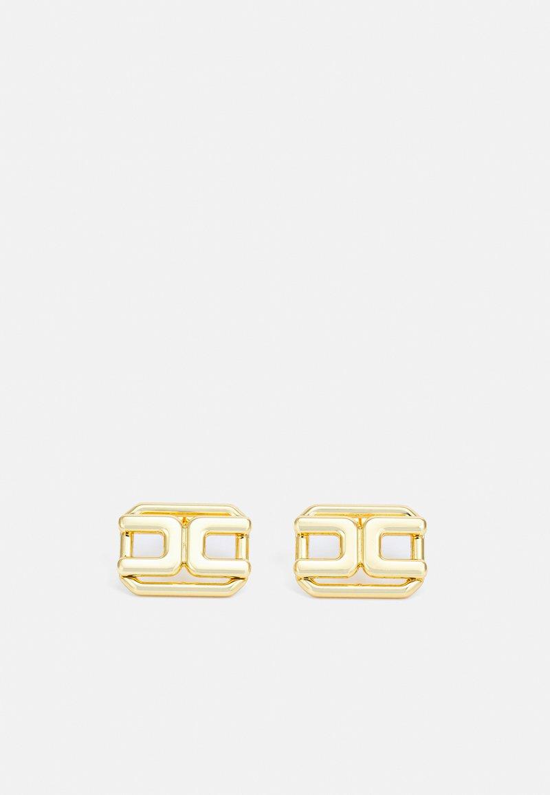 Elisabetta Franchi - STUD ROUND LOGO EARRINGS - Earrings - oro giallo
