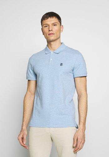 SLHARO EMBROIDERY - Polo shirt - skyway melange