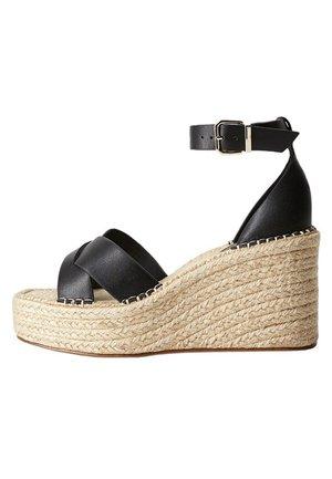 CROSS - Wedge sandals - schwarz
