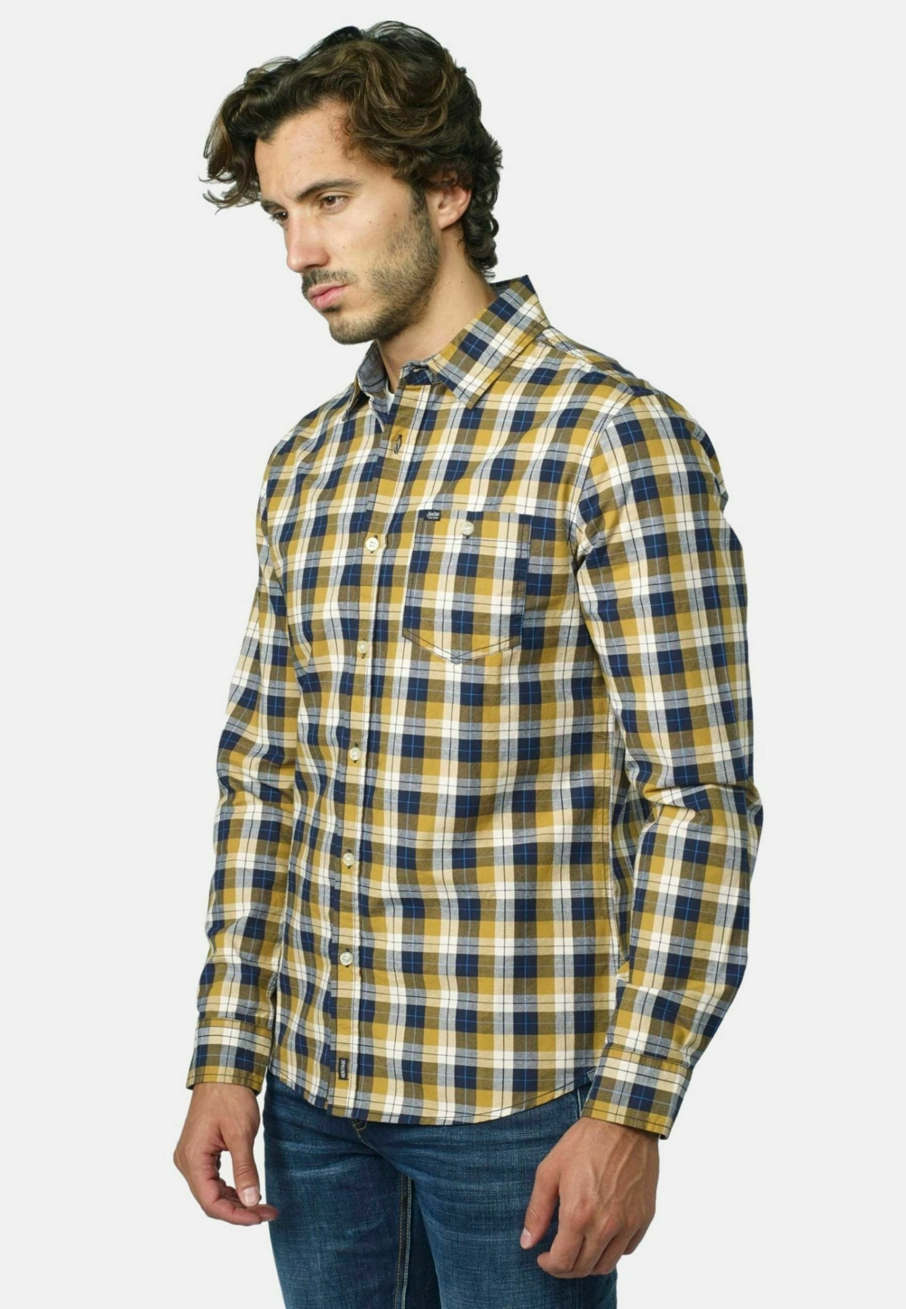Hombre LONG-SLEEVED CHECKED - Camisa