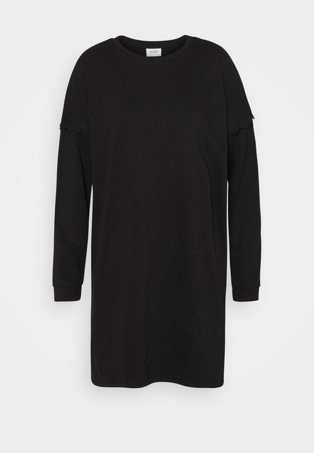 JDYRIKKE LIFE CROCHET DRESS - Vapaa-ajan mekko - black