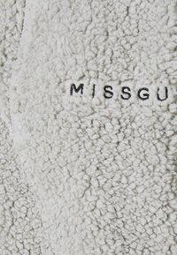 Missguided - BORG HALF ZIP HOODIE JOGGERS - Sweatshirt - grey - 6
