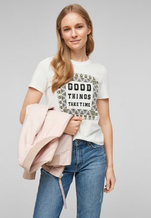 MIT FOTOPRINT COLLAGE - Print T-shirt - offwhite good things