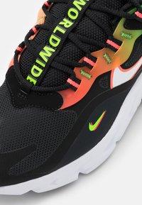 Nike Sportswear - AIR MAX 270 REACT - Sneakers - black/white/green strike/flash crimson/blue fury - 5