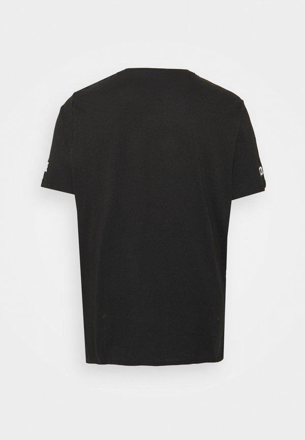 Jack & Jones JCONEWHOLM TEE CREW NECK - T-shirt z nadrukiem - black/czarny Odzież Męska BYVY