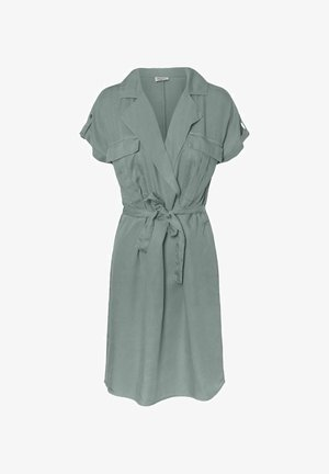 NMVERA ENDI SHIRT DRESS - Korte jurk - slate gray