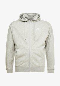 Nike Sportswear - M NSW FZ FT - Tröja med dragkedja - grey heather/matte silver/white - 4