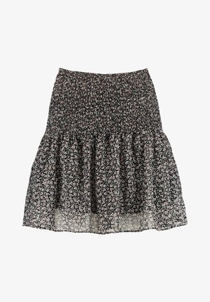 ROMY - Mini skirt - black/white