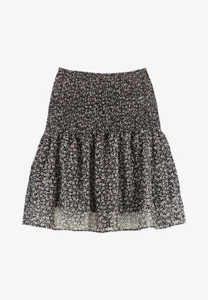 ROMY - Mini skirt - black/white