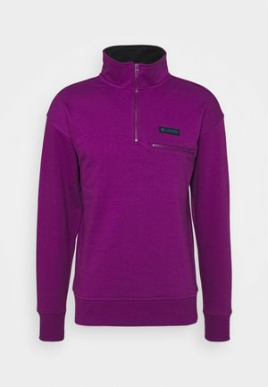 BUGA QUARTER ZIP - Sweatshirts - plum/black