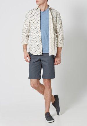 SLIM STRAIGHT WORK - Shorts - charcoal grey