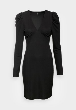 ONLMONNA DEEP V NECK DRESS  - Kotelomekko - black