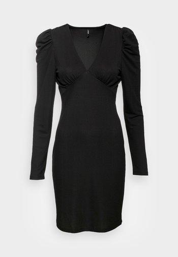 ONLMONNA DEEP V NECK DRESS  - Etuikjole - black