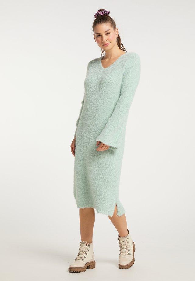 Gebreide jurk - minze
