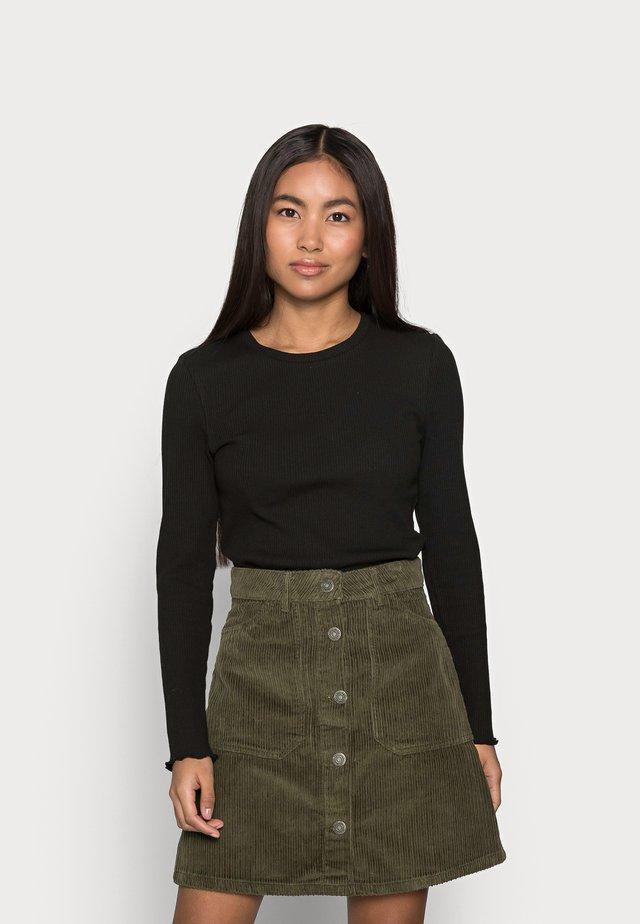 SLFANNA CREW NECK TEE - Pitkähihainen paita - black